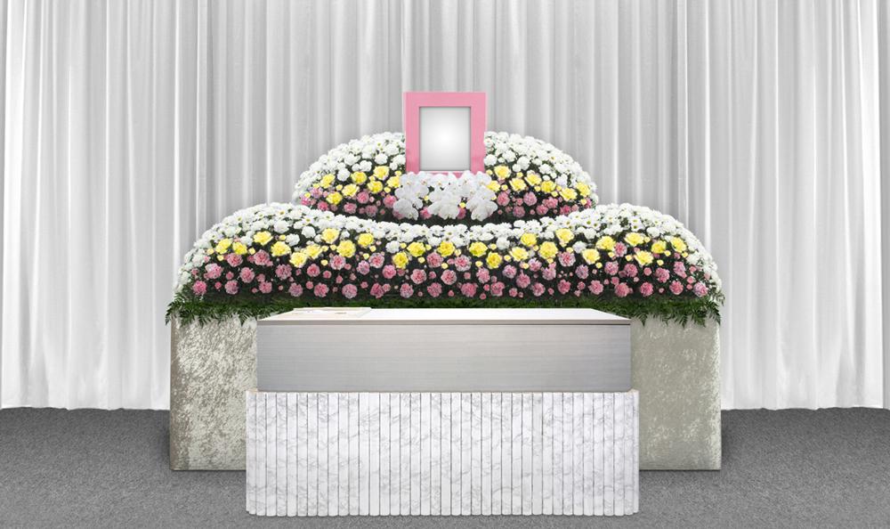 練馬区の葬儀社 小澤葬祭:生花祭壇1号