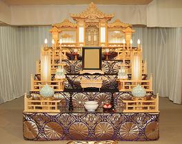区民葬儀A1祭壇:練馬区の葬儀社 小澤葬祭