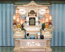 練馬区の葬儀社 小澤葬祭:白木祭壇1号